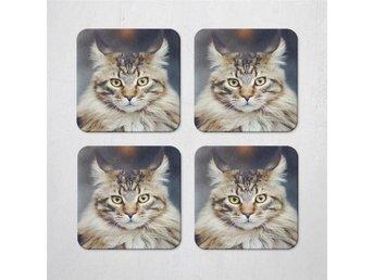 Maine Coon Katt Coasters 4 Pack Underlägg Underlag - Kuala Lumpur - Maine Coon Katt Coasters 4 Pack Underlägg Underlag - Kuala Lumpur