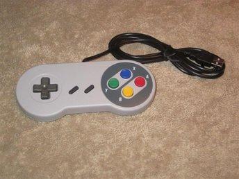 Handkontroll/gamepad Super Nintendo SNES USB - NY! - Ekerö - Handkontroll/gamepad Super Nintendo SNES USB - NY! - Ekerö