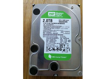 "WD Green 2TB 3,5"" WD20EARS, 5400rpm SATA 3.0Gb/s 64mb"
