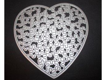 Die cutting dies scrapbooking pyssel hjärta pusselbitar - östervåla - Die cutting dies scrapbooking pyssel hjärta pusselbitar - östervåla