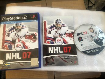 Playstation 2 PS2 spel - NHL 07