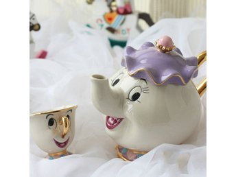 Tea Set Tekanna Cup Mrs Potts Chip Bela E En Fera Pot Kruka Kettle