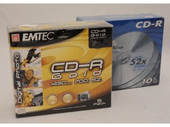 Emtec CD-R Gold 1450Photos/700MB/52x i 5-pack + Biltema CD-r 700MB 52x i 10-pack