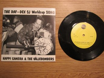 Vinylskiva The Daf-Dex SJ Worldcup song Happy Camera & The Väljebombers BS 002