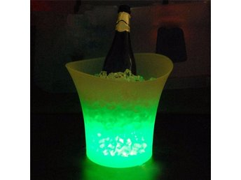 5L Ishink Glimrande LED Belysning Grön Ice Bucket Color Changing