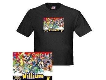 POKEMON personlig T-Shirt stl 122/128 med ditt barns namn på **JULKLAPPSTIPS** - Vara - POKEMON personlig T-Shirt stl 122/128 med ditt barns namn på **JULKLAPPSTIPS** - Vara