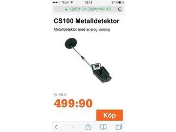 Metalldetektor CS 100. Gå ut på jakt efter nya fynd! 1 STYCK! - Stockholm - Metalldetektor CS 100. Gå ut på jakt efter nya fynd! 1 STYCK! - Stockholm