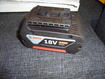 Bosch batteri 18V 4,0Ah Original - Lund - Bosch batteri 18V 4,0Ah Original - Lund