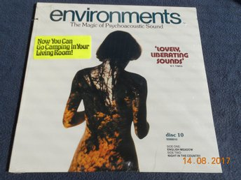 Quad LP ENVIRONMENTS Psychoacoustic Sound Disc 10, USA 1979 - INPLASTAD!