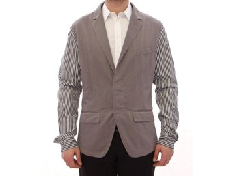Dolce & Gabbana - Gray striped cotton blazer