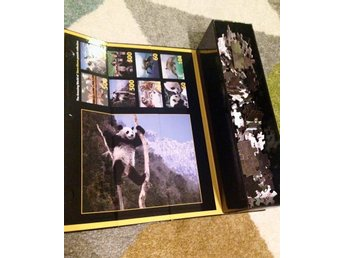 NYTT pussel puzzle 500 bitar, 3D effekt, panda motiv Steve Bloom collection