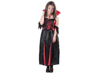 Vampyr   Vampyrklänning Barn Maskeraddräkt 110-116 cm - Halloween   Maskerad 05b082e1c3364