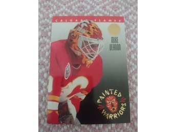 Leaf 1993/94 Painted Warriors insert - Mike Vernon