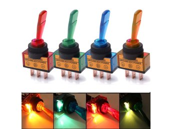 12V Light Illuminated Flick Toggle Switch Car Boat Dashbo...