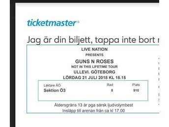 Guns N Roses (Not in this lifetime tour)