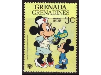Disney, Grenada Grenadines, 3-cent Minnie Mouse