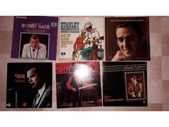 COUNTRY 6st LP - CONWAY TWITTY Faron Young STANLEY BROTHERS Bobby Bare 60-70-tal