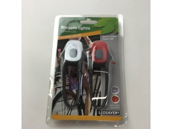 Ledsavers, Cykeltillbehör, Bicycle lights, 2 power LED, Vit/Röd/Grå