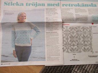 56568b4c Mönster: tröja med retrokänsla. (354156195) ᐈ Köp på Tradera