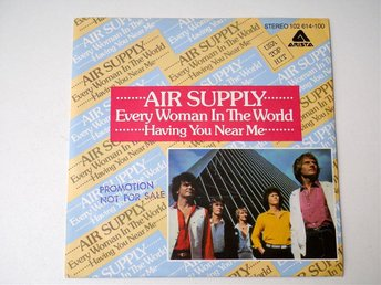 """Air Supply / Every Woman In the World 7"""" 1980 Promotion Copy! - Enskede - Air Supply / Every Woman In the World 7"""" 1980 Promotion Copy! - Enskede"""