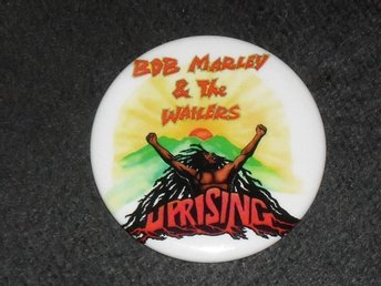 BOB MARLEY & THE WAILERS - STOR Badge / Pin / Knapp (Rasta, Rastafari, Reggae,)