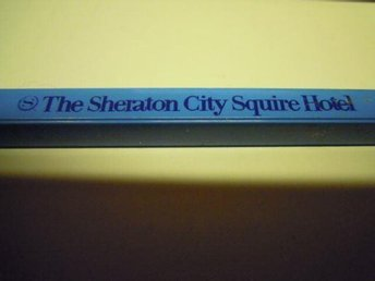 Reklampenna The Sheraton City Squire Hotel N.Y. 1979