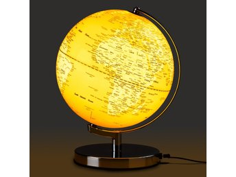 GLOBE LIGHT English mustard - Jordglob 25cm med belysning