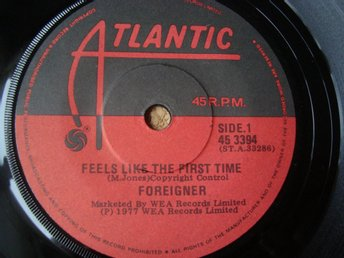 Foreigner Nya Zeeland Utgåva På Singeln Feel Like The First Time Från 1977