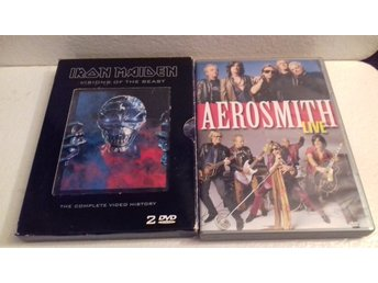 IRON MAIDEN - 2 DVD - VISIONS OF THE BEAST + AEROSMITH LIVE - DVD