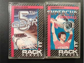 5th Gear + Supercup Football till Commodore 64 / 128 | C64 | C128 | Hewson