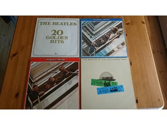 THE BEATLES - SAMLING 4 stycken LP
