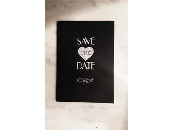 50 st Save-the-date kort, svarta