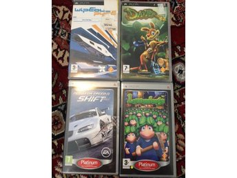 Daxter+Lemmings+Need for Speed+Wipeout Pure