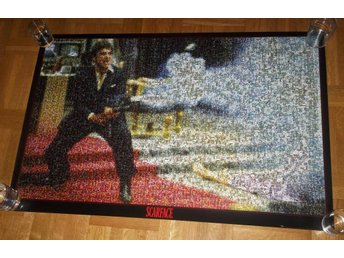 SCARFACE (poster affisch) 61x91cm Photo Collage Tony Montana - Halmstad - SCARFACE (poster affisch) 61x91cm Photo Collage Tony Montana - Halmstad
