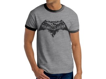 BATMAN V SUPERMAN - VIGILANTE JUSTICE (UNISEX RINGER) - Small