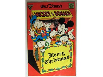 Walt Disney Mickey & Donald Merry Christmas Gladstore No 1 1988