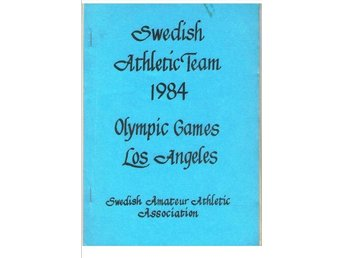 SWEDISH ATHLETIC TEAM 1984 OLYMPIC GAMES LOS ANGELES   Julin