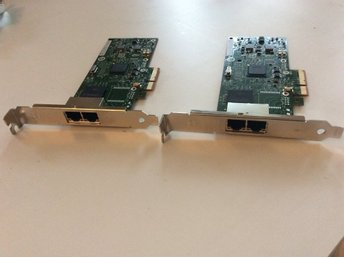 2 st IBM  INTEL ETHERNET PCI EXPRESS X4 DUAL PORT SERVER ADAPTER CARD