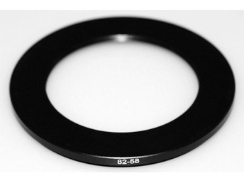 Step Down Ring 82 - 58 mm