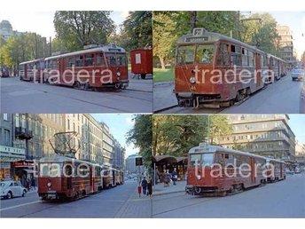 Lidingöbanan 1967 1968, 8 st färg bilder, serie 7 - Danderyd - Lidingöbanan 1967 1968, 8 st färg bilder, serie 7 - Danderyd