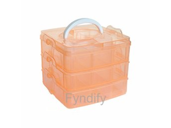 Smycke Organiserare Jewellery Storage Organizer 15*15*12.5 cm Orange