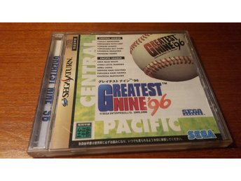 Greatest Nine 96 - Komplett + Spine Card - Japanskt - Sega Saturn