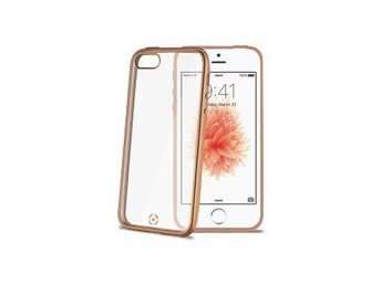 Celly Laser Cover iPhone SE Gold