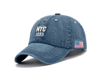 Denim Solid Blue Jeans NEW YORK City 1985 American Flag Baseball Hat Cap Cowboy