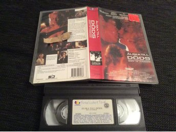 ÄLSKA TILL DÖDS VHS Madonna Willem Dafoe Body OF Evidence Svensk text