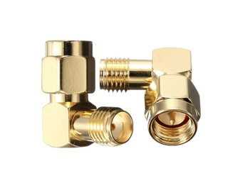 DANIU SMA Male To SMA Female Jack Right Angle Crimp RF Ad...