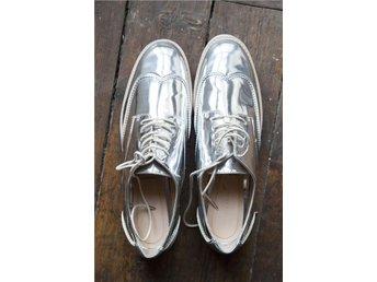 Oanvända silverskor från Zara st 40 - Stockholm - Oanvända silverskor från Zara st 40 - Stockholm