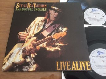 STEVIE RAY VAUGHAN & DOUBLE TROUBLE live alive 2xLP -86 EPIC EPC 450238 1