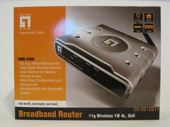 Wireless router Level One WBR-3408