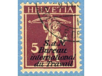 Int. arbetsorg. (BIT/ILO) 1927 M15 stämplad (ST26) - Varberg - Int. arbetsorg. (BIT/ILO) 1927 M15 stämplad (ST26) - Varberg